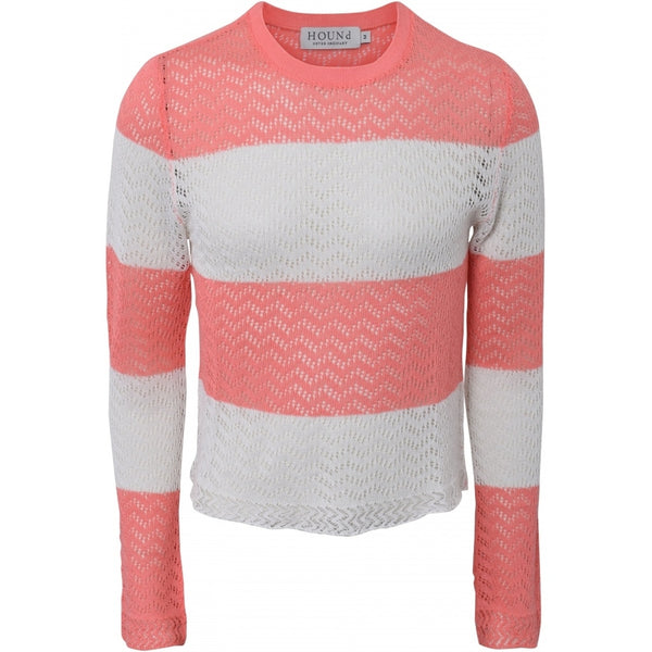 HOUNd GIRL Knit Knit Coral/off white