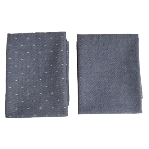 Lot de 2 serviettes de table en coton biologique