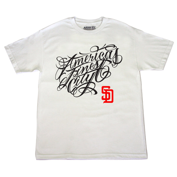 White Finest City Armory T-Shirt