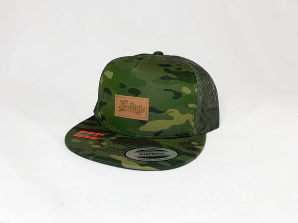 - Freestyle Session Leather Patch Mesh Snapback