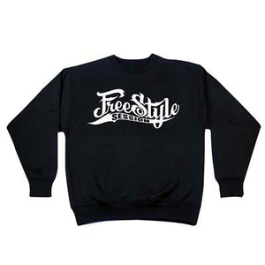 Freestyle Session Black Crewneck