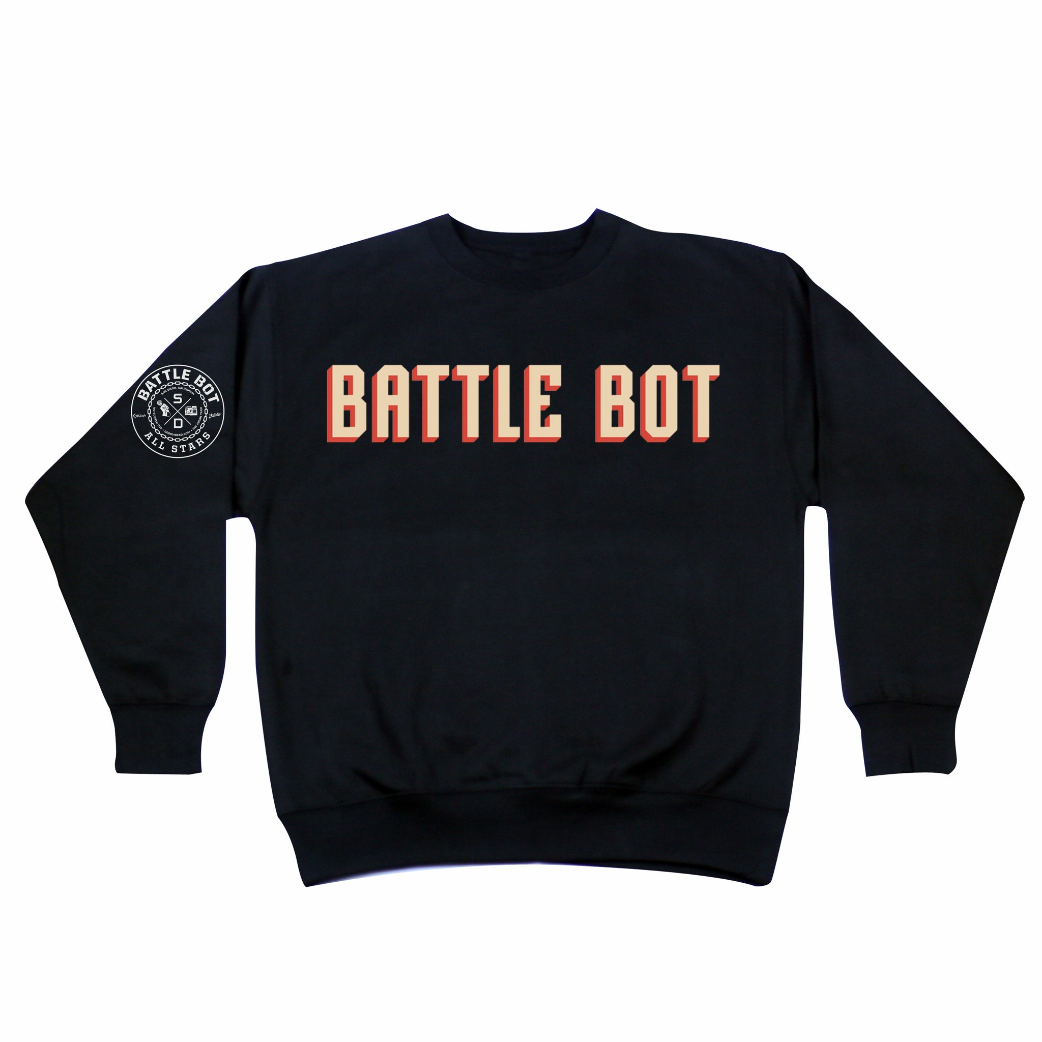 Battle Bot Logo Crewneck Sweater
