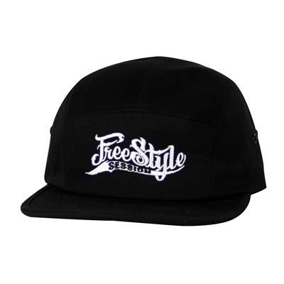 Freestyle Session 5 Panel Adjustable Hat Black