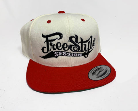 Freestyle Session Snapback 2 Tone - Offwhite/Red