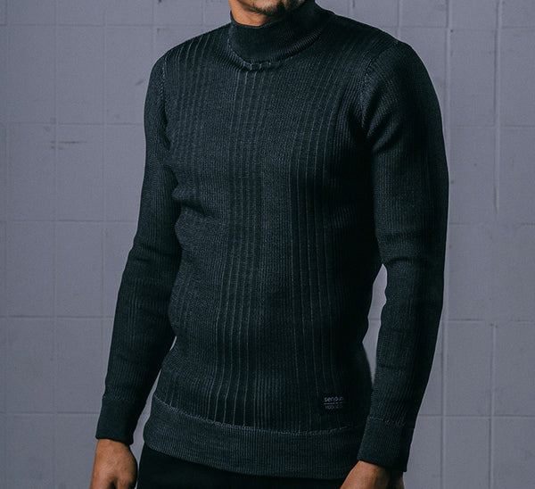 Serious Brand Mock Neck Long Sleeve Dark Colors
