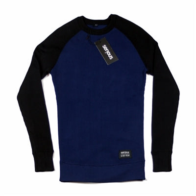 Serious Brand Base Neck Long Sleeve Navy