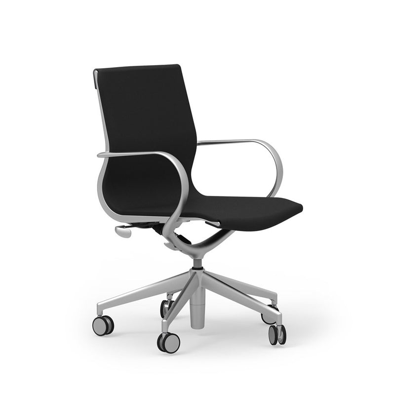 iDesk Curva Mid Back Leather Conference Chair