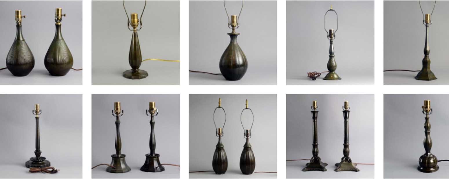 Just Andersen vintage Danish lighting  - art deco interiors