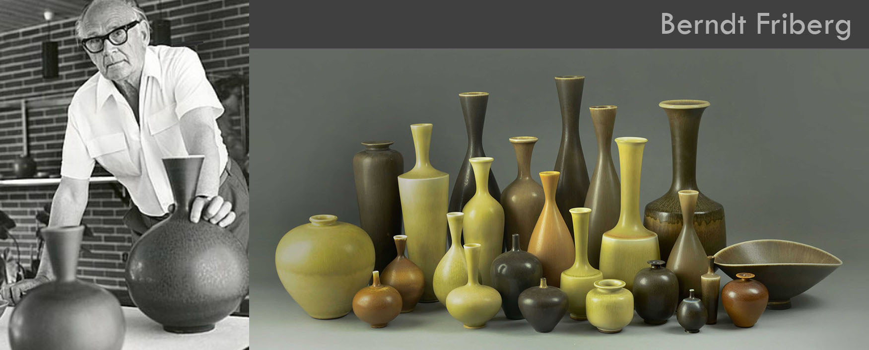 Berndt Friberg Ceramics for sale, Gustavsberg, Sweden, 1940s-70s