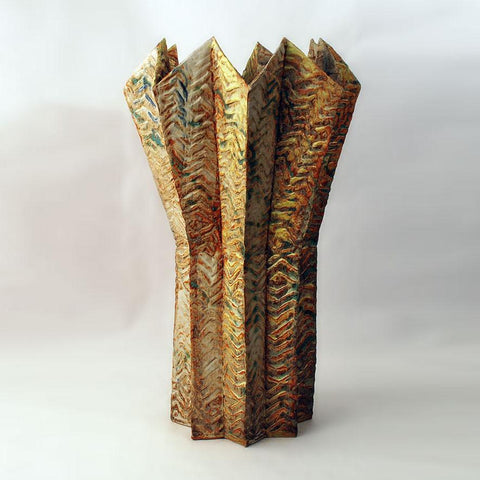 Unique hand built monumental stoneware vase by Henry Pim