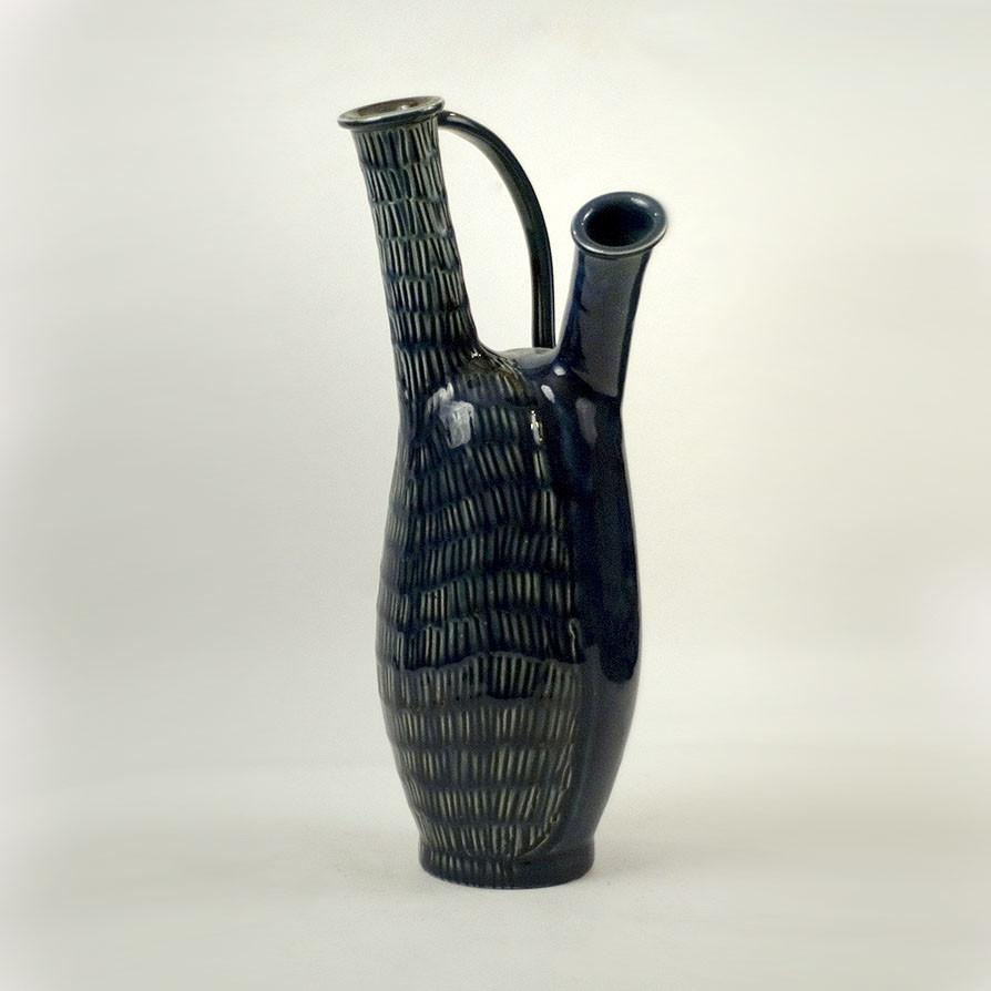 Double necked handled vessel by Carl Harry Stålhane for Rörstrand