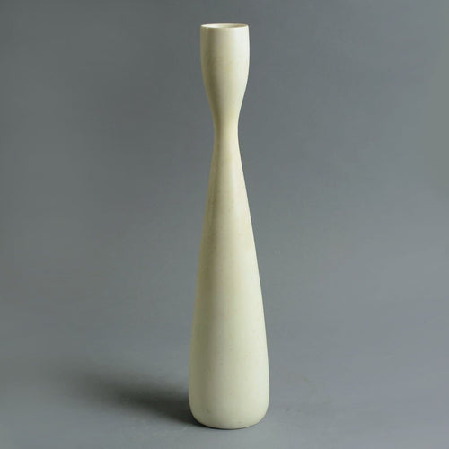 Tall stoneware vase with matte white glaze by Carl Harry Stalhane A1546