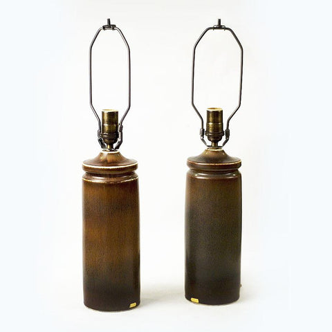 Pair of stoneware lamps by Carl Harry Stålhane for Rorstrand