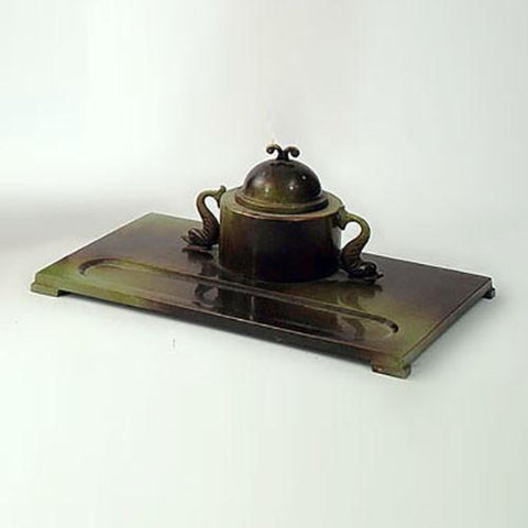 Bronze inkwell by Ystad