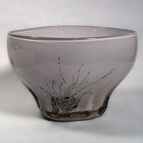 Glass bowl by Benny Motzfeldt for Plus glassworks N3598