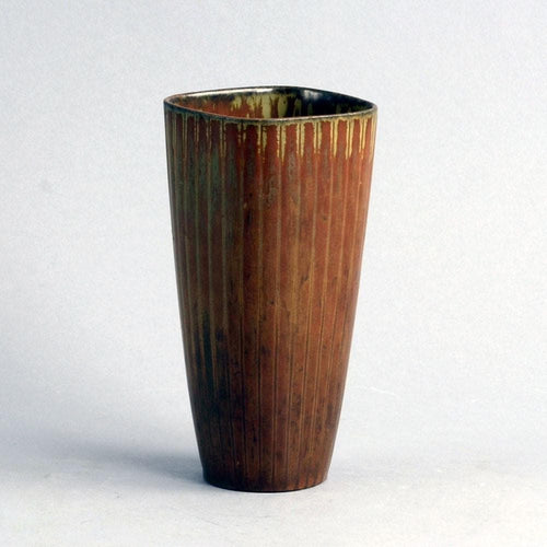 Gunnar Nylund vase for Rorstrand brown haresfur