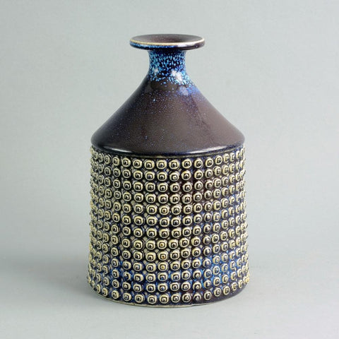 Purple stoneware vase by Stig Lindberg for Gustavsberg C5020