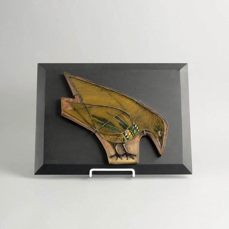 Stoneware bird tile by Rut Bryk for Arabia