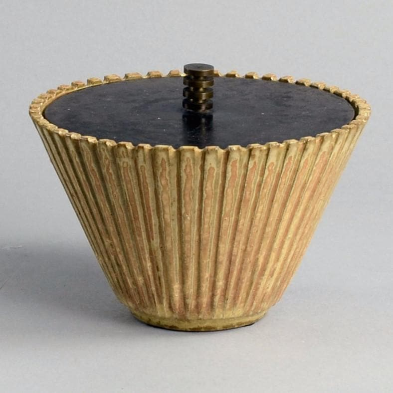 Lidded Jar with bronze lid by Arne Bang