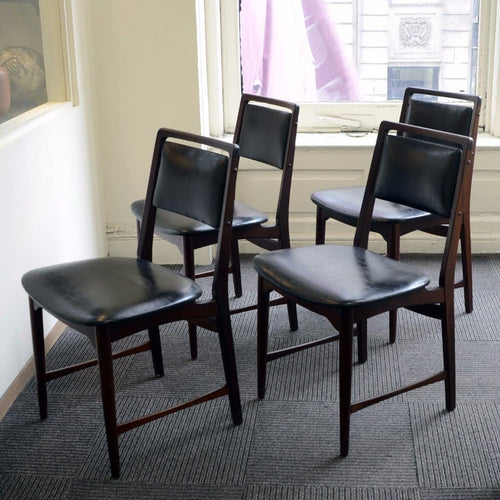 Set of four chairs by Bramin, Denmark
