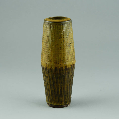 "Wilhelm Kage for Gustavsberg, ""Farsta"" vase with incised decoration"