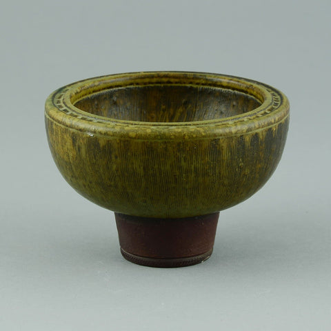 "Wilhelm Kage for Gustavsberg, ""Farsta"" bowl with incised decoration"