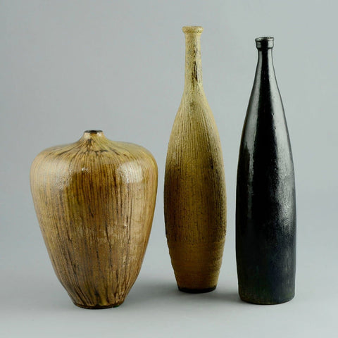 Ingrid and Bruno Asshoff group of ceramic vases for sale