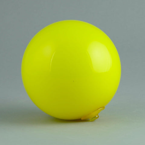 Holmegaard hanging ball in yellow N2450