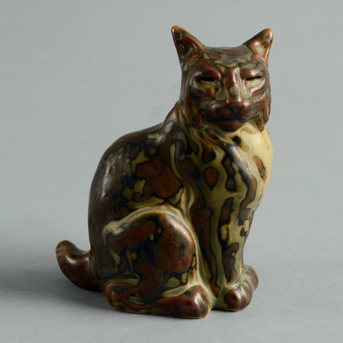 Sculpture of Cat by Knud Kyhn for Royal Copenhagen