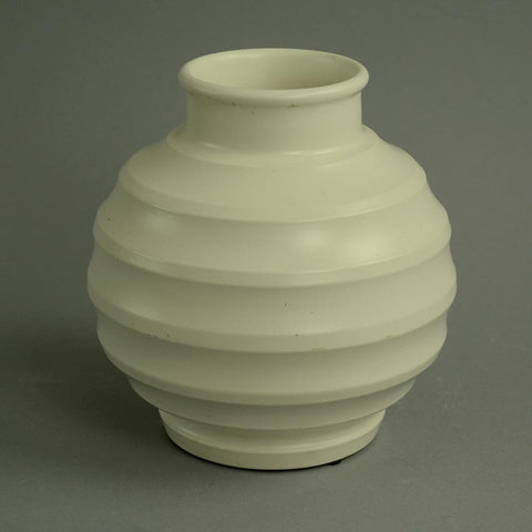 Porcelain bowl with matte white glaze by Keith Murray for Wedgewood