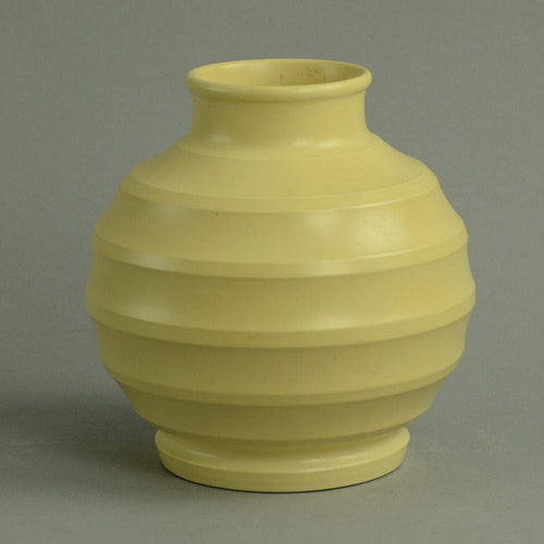 Porcelain bowl with matte yellow glaze by Keith Murray for Wedgewood
