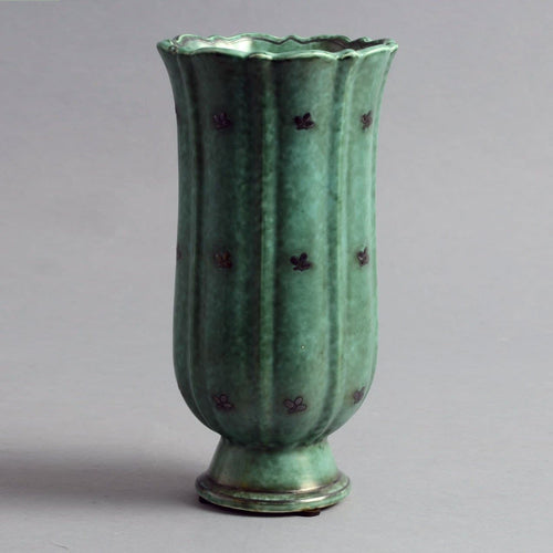 """Argenta"" footed vase by Wilhelm Kåge N7035"