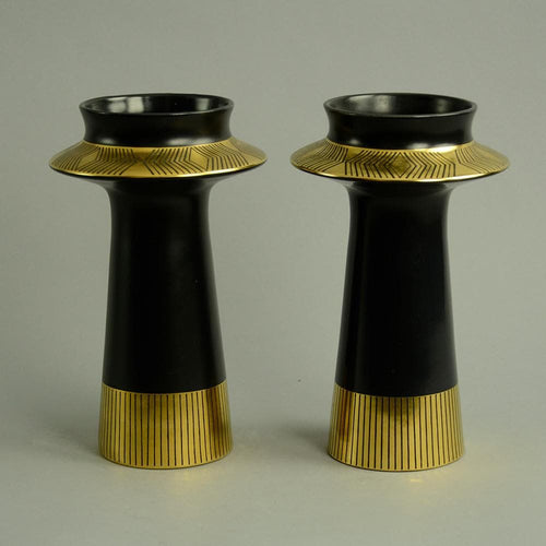 "Pair of ""Memphis"" vases by Colin Melboune A1091 and A1092"