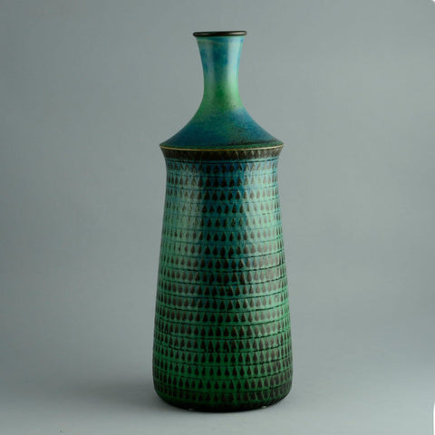 Stig Lindberg for Gustavsberg, very large unique stoneware vase