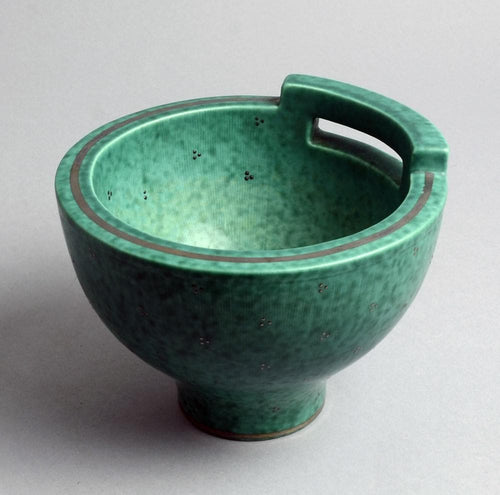 """Argenta"" stoneware bowl by Wilhelm Kåge N3902 and N2896"