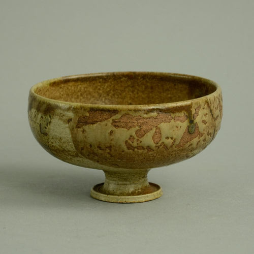 Unique stoneware bowl by Annikki Hovisaari N6928