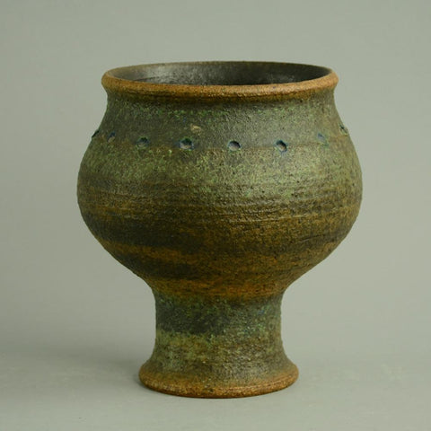 Unique chamotte stoneware vase by Francesca Mascitti Lindh for Arabia