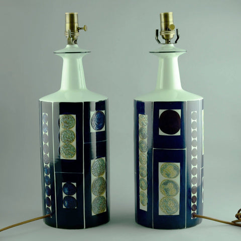 Pair of stoneware lamps by Aluminia (large)
