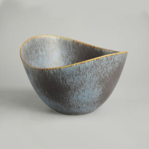 Ovoid Bowl by Gunnar Nylund for Rorstrand AXK blue