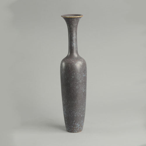 Stoneware vase with matte brown and blue glaze by Gunnar Nylund B3429