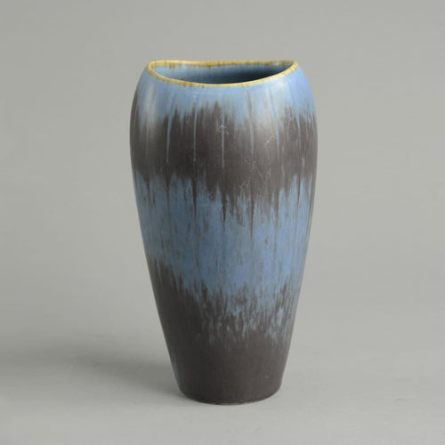 Gunnar Nylund blue and brown vase Rorstrand