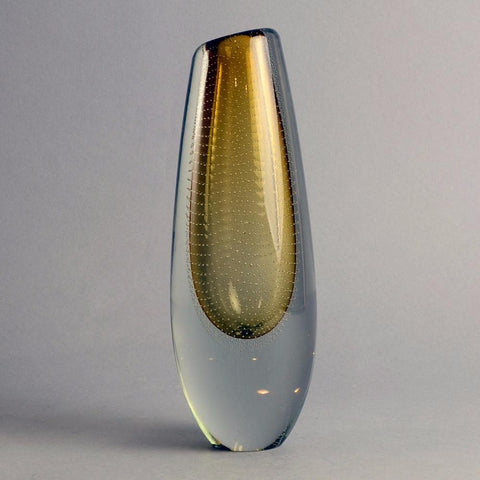Glass vase by Gunnel Nyman for Nuutäjarvi-Nottsjö