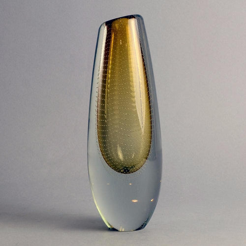 Glass vase by Gunnel Nyman for Nuutäjarvi-Nottsjö N9609