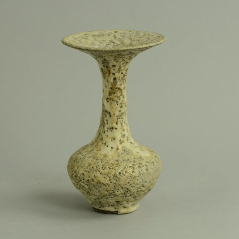 Lucie Rie British studio pottery vase with volcanic glaze