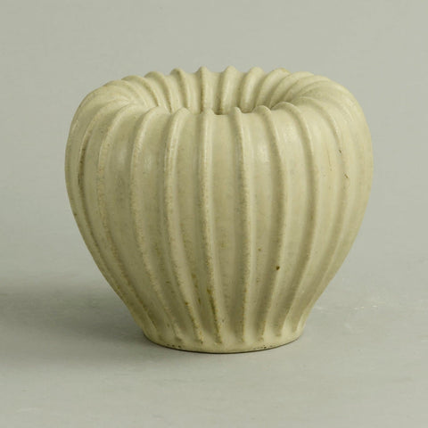 Ribbed vase by Arne Bang