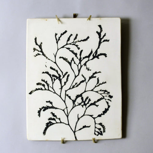 Unique stoneware tile by Toini Muona N1546