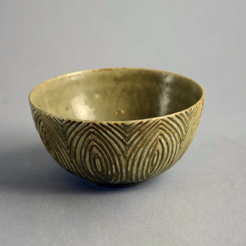 Axel Salto for Royal Copenhagen, bowl with solfatara glaze