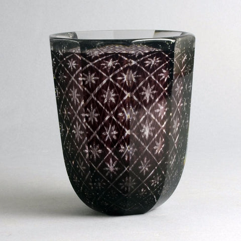 """Graal"" glass vase by Edward Hald for Orrefors"