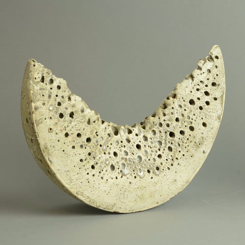 Unique stoneware sculptural form by Alan Wallwork N9353