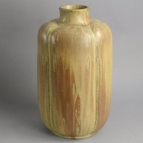 Monumental vase with peach crystalline glaze by Arne Bang